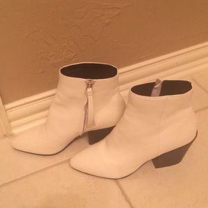 Dolce vita white booties ankle boots